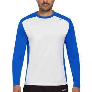 Maillot technique runnek ethilo blanc bleu royal homme