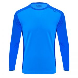 Maillot technique runnek ethilo bleu royal homme detail face