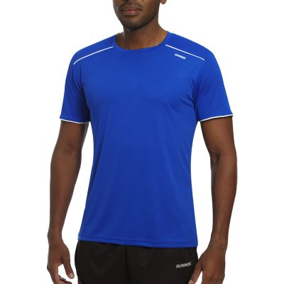 Maillot technique runnek ultra bleu royal blanc homme