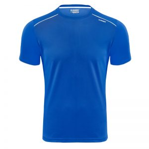 Maillot technique runnek ultra bleu royal blanc homme face