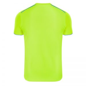 Maillot technique runnek ultra jaune fluor bleu royal homme dos