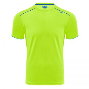 Maillot technique runnek ultra jaune fluor bleu royal homme face