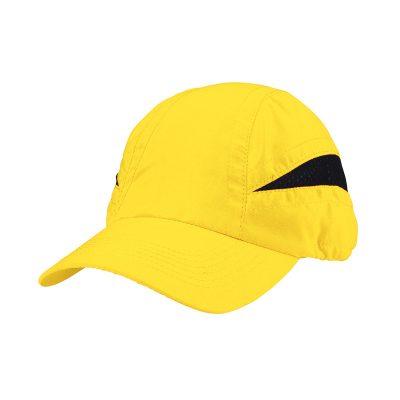 casquette technique jaune