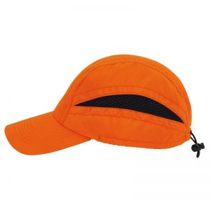 casquette technique orange-cote