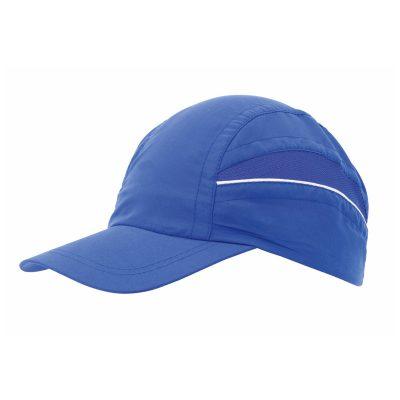 casquette technique trail bleu