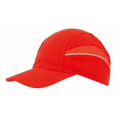 casquette technique trail rouge