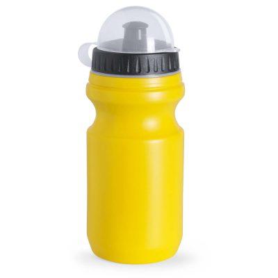 bidon sport avec couverture jaune