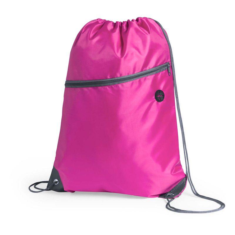 sac a dos running avec poche fushcia