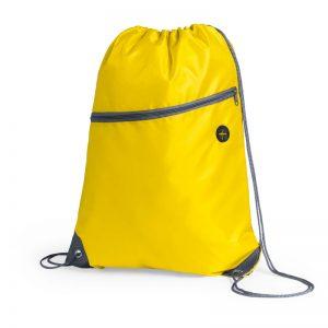 sac a dos running avec poche jaune