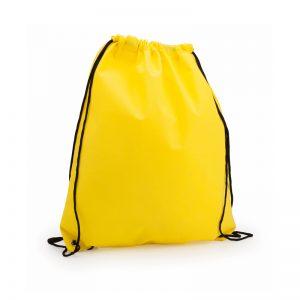sac a dos tissu non tissu jaune