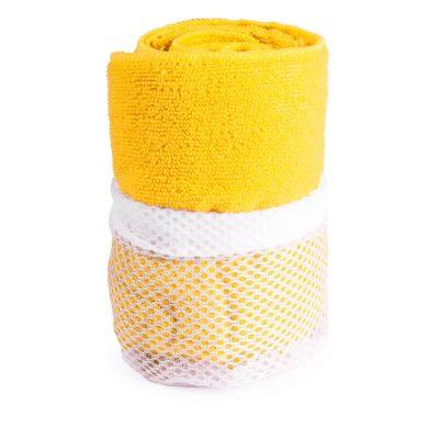 serviette microfibre jaune