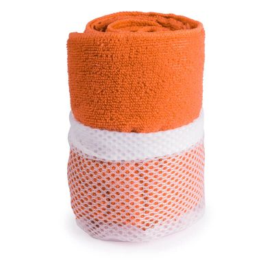 serviette microfibre orange