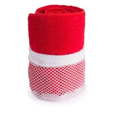 serviette microfibre rouge