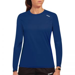 Maillot technique runnek ethilo bleu navy femme