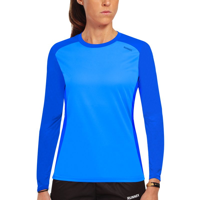 Maillot technique runnek ethilo bleu royal femme