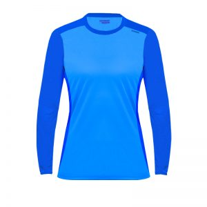 Maillot technique runnek ethilo bleu royal femme face