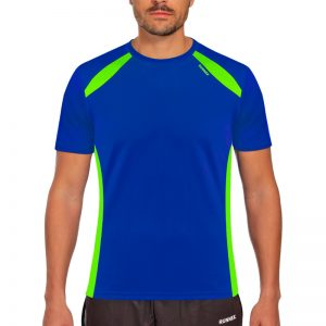 Maillot technique runnek wave bleu