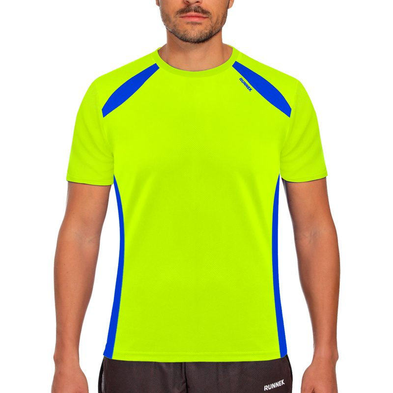 Maillot technique runnek wave jaune