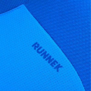 Maillot technique runnek edel bleu royal homme detail