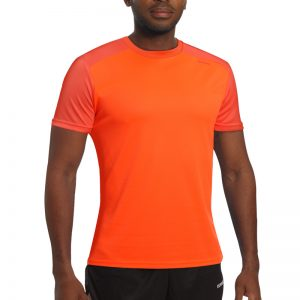 Maillot technique runnek edel orange fluo homme