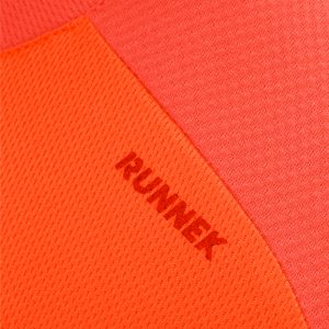 Maillot technique runnek edel orange fluo homme detail