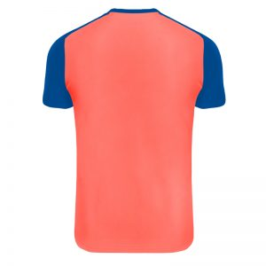 Maillot technique runnek limit corail fluo bleu royal homme dos