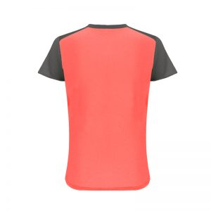 Maillot technique runnek limit corail fluo plomb femme dos