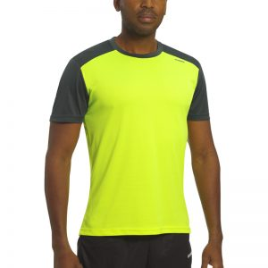 Maillot technique runnek limit jaune fluo girs plomb homme
