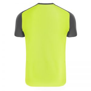 Maillot technique runnek limit jaune fluo girs plomb homme dos