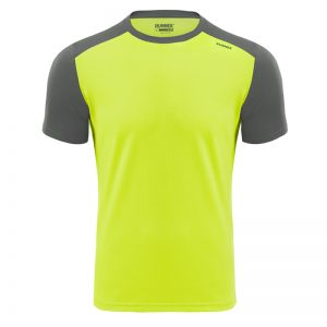 Maillot technique runnek limit jaune fluo girs plomb homme face