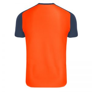Maillot technique runnek limit orange fluo bleu navy homme dos