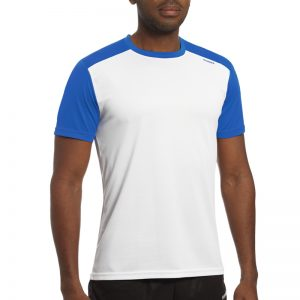 Maillot technique runnek milos blanc belu royal homme