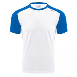 Maillot technique runnek milos blanc belu royal homme face