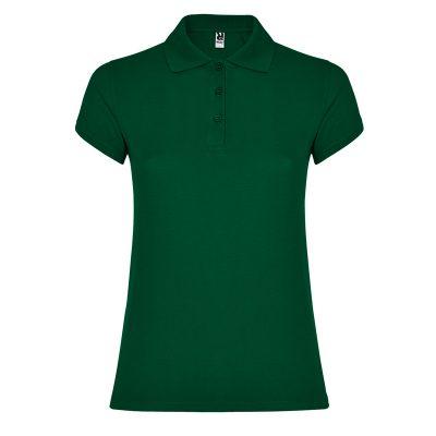 Polo coton femme vert bouteille