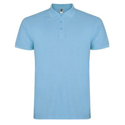 Polo coton homme bleu ciel