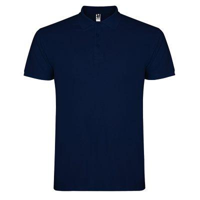 Polo coton homme bleu navy
