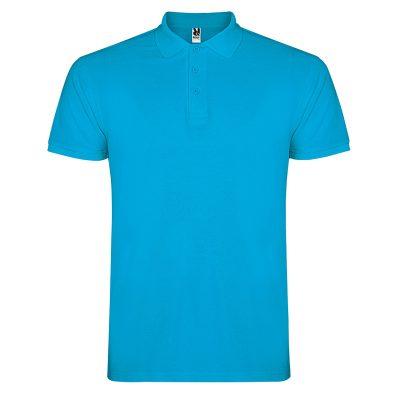 Polo coton homme bleu turquoise