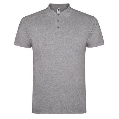 Polo coton homme gris clair