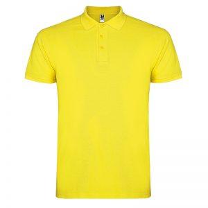 Polo coton homme jaune face
