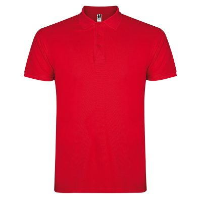Polo coton homme rouge