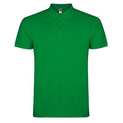 Polo coton homme vert tropicale