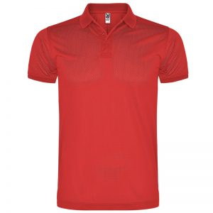 Polo technique homme rouge