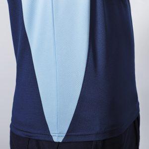 Polo technique sport homme bleu navy bleu ciel cote