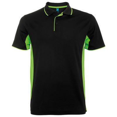 Polo tecnico sport runnek negro verde