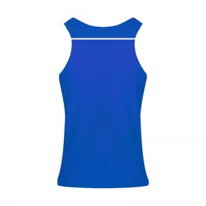 debardeur technique runnek ultravest bleu royal blanc dosfemme