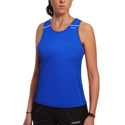 debardeur technique runnek ultravest bleu royal blanc femme