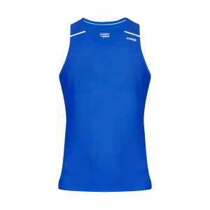 debardeur technique runnek ultravest bleu royal blanc femme face
