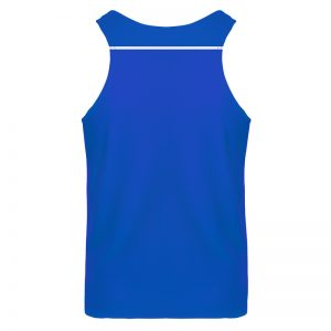 debardeur technique runnek ultravest bleu royal blanc homme dos
