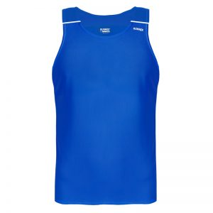 debardeur technique runnek ultravest bleu royal blanc homme face