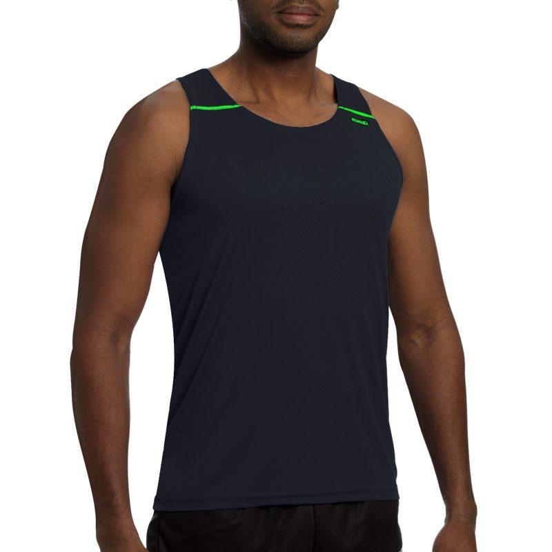 debardeur technique runnek ultravest noir vert fluo homme